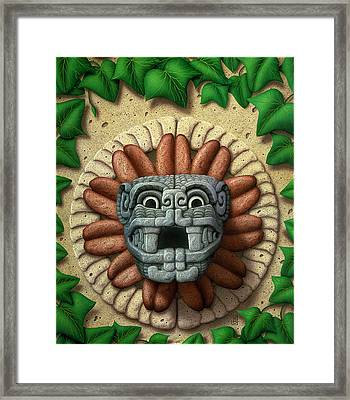 Framed Print featuring the painting Quetzalcoatl by WB Johnston