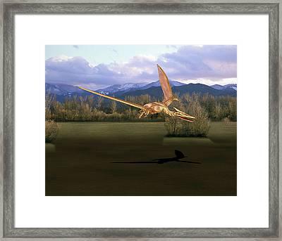 Quetzalcoatlus Pterosaur Framed Print
