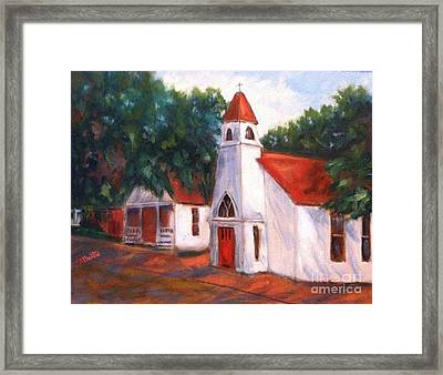 Framed Print featuring the painting Quiant Arkansas Church by Marcia Dutton