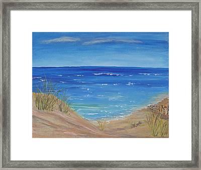 Quick Seascape 1 Framed Print by Barbara McDevitt