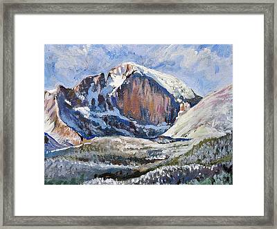 Quick Sketch - Longs Peak Framed Print by Aaron Spong