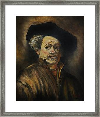 Quick Study Of Rembrandt Framed Print by Stefon Marc Brown