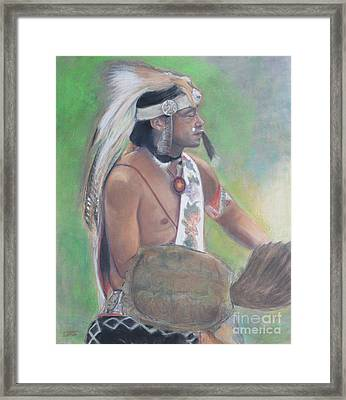 Wampanoag Dancer Framed Print by Terri Ana Stokes