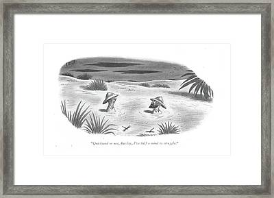 Quicksand Or Framed Print