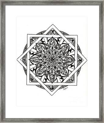 Quiddity Mandala Framed Print