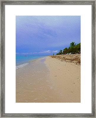 Quiet Beach Framed Print