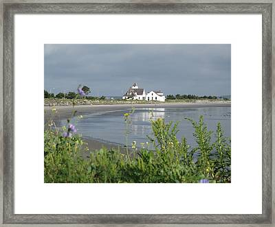 Quiet Beach Nahant Framed Print by Barbara McDevitt