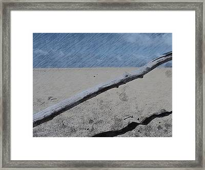 Framed Print featuring the photograph Quiet Beach by Photographic Arts And Design Studio
