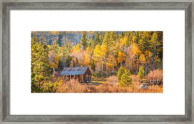Quiet Cabin Framed Print by Charles Garcia