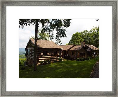 Quiet Cabin On A Hill Framed Print by Robert Margetts