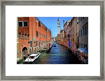 Quiet Canal Framed Print by James David Phenicie