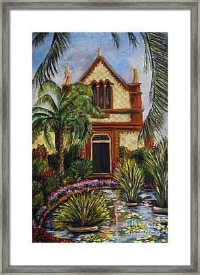 Quiet Chapel Framed Print by Nancy Bradley