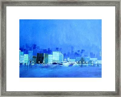 Quiet City Night Framed Print