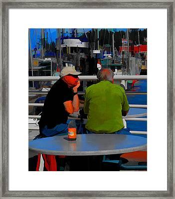 Framed Print featuring the digital art Quiet Contemplation by Richard Farrington