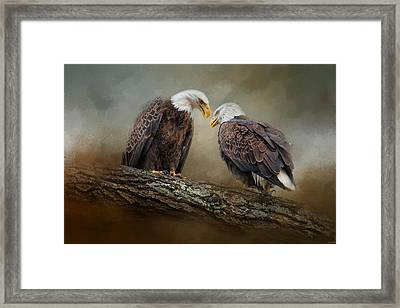 Quiet Conversation Framed Print