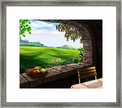 Quiet Corner Framed Print by Bedros Awak