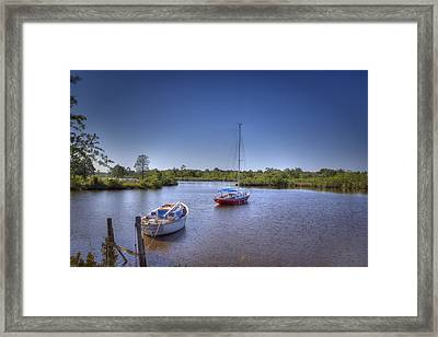 Quiet Cove Framed Print by Barry Jones