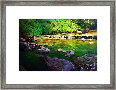 Quiet Creek Framed Print