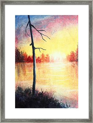 Quiet Evening By The River Framed Print by Nirdesha Munasinghe