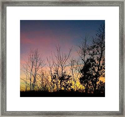 Framed Print featuring the photograph Quiet Evening by Linda Bailey