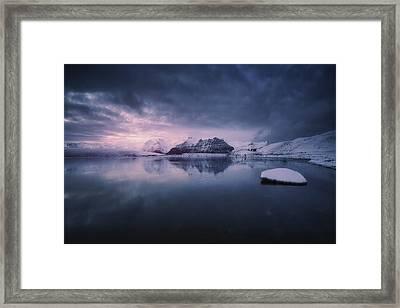Quiet Frost Light II Framed Print
