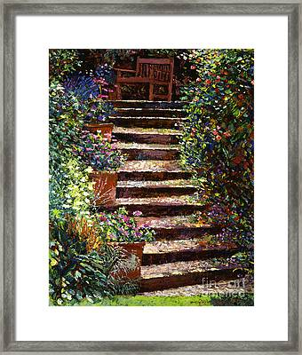 Quiet Hideaway Framed Print by David Lloyd Glover