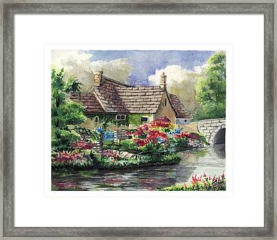 Quiet House Along The River Framed Print