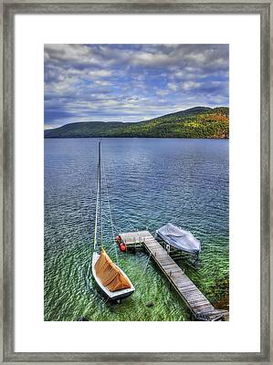 Quiet Jetty Framed Print by Evelina Kremsdorf