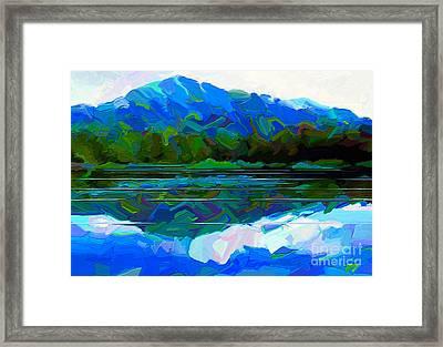 Quiet Lakeside Framed Print by Dorinda K Skains