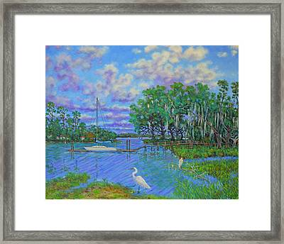Quiet Low Country Lagoon Framed Print
