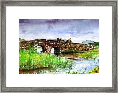 Quiet Man Bridge Ireland Framed Print by John D Benson