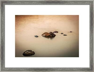 Quiet Moment Lake Mcdonald Glacier National Park Framed Print by Rich Franco