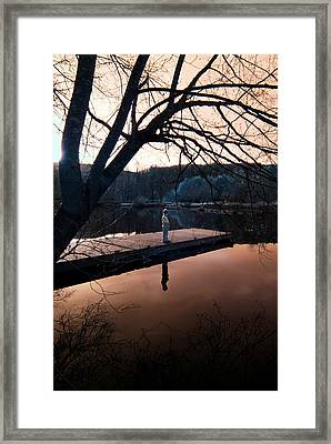 Framed Print featuring the photograph Quiet Moment Reflecting by Rebecca Parker