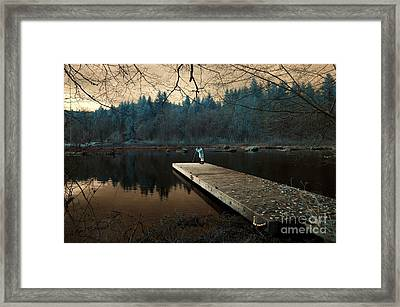Framed Print featuring the photograph Quiet Moments  by Rebecca Parker