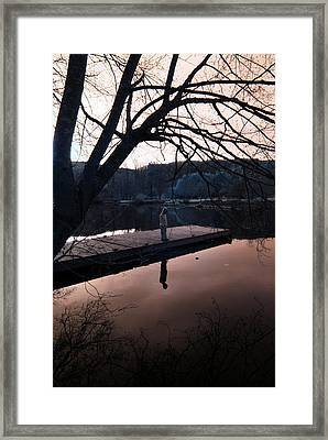 Framed Print featuring the photograph Quiet Moments Reflecting by Rebecca Parker