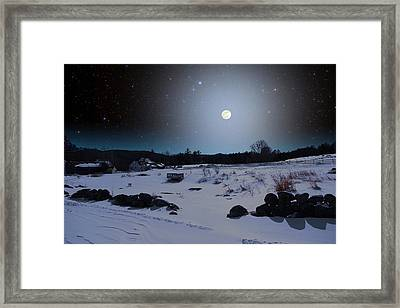 Framed Print featuring the photograph Quiet Moonlight by Larry Landolfi