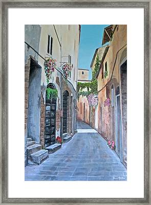 Framed Print featuring the painting Quiet Morning by Bonnie Heather