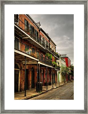 Quiet Morning In The French Quarter Framed Print