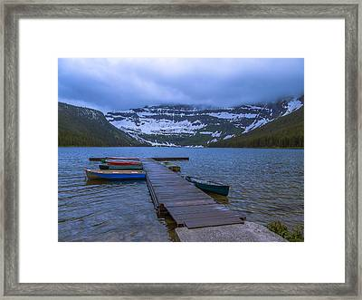 Cold Day At The Lake Framed Print by JP  McKim
