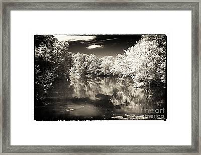 Quiet On The Pond Framed Print by John Rizzuto
