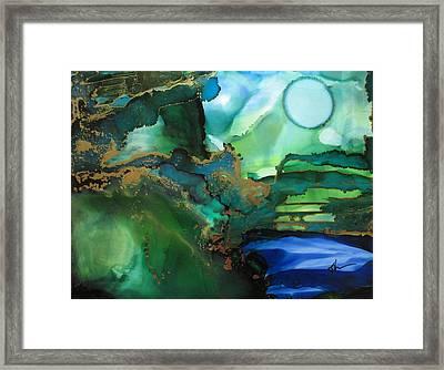 Quiet Pond Framed Print by Kathy Sheeran