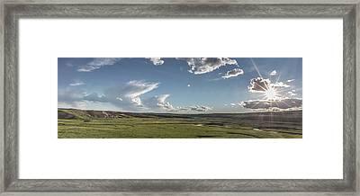 Quiet Prairie Framed Print by Jon Glaser