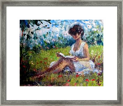 Quiet Read Framed Print
