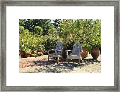 Framed Print featuring the photograph Quiet Respite by Sandy Molinaro