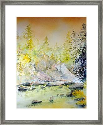 Quiet Run Framed Print