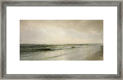 Quiet Seascape Framed Print by William Trost Richards