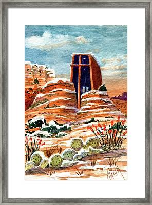Quiet Snowfall  Sedona  Arizona Framed Print