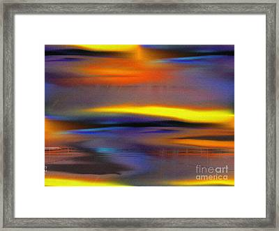 Soft Rain Framed Print