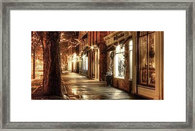 Quiet Street Framed Print by Ric Potvin