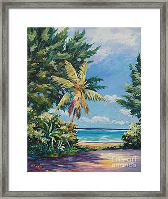 Quiet Stretch Of Beach Framed Print by John Clark